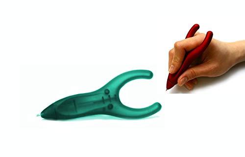 PenAgain Ergosof - Kugelschreiber mit ergonomisch rutschfestem Soft-Oberfläche-Griff (grün (gummiert))