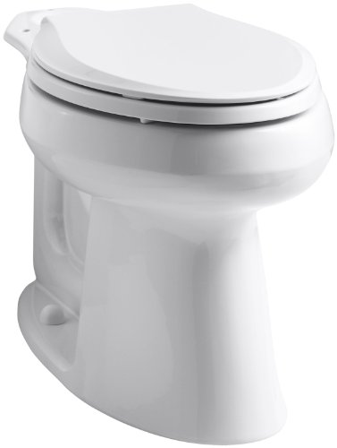 """Kohler K-4373-0 Wellworth Comfort Height Class Five Elongated Bowl Only with 10"""" Rough-In, White"""