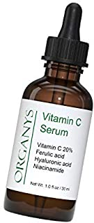 Organys 20% Vitamin C, E, Ferulic Acid Facial Serum With Hyaluronic & Niacinamide. L-ascorbic Acid Brightens Smooths Wrink...