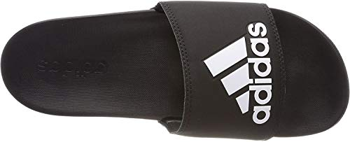 Adidas Adilette Comfort Zapatos de playa y piscina Hombre, Negro (Cblack/Cblack/Ftwwht Cg3425), 43 EU