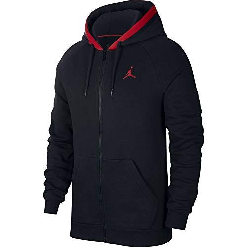 Nike Herren Air Jordan Fleece FZ Hoodie Schwarz M
