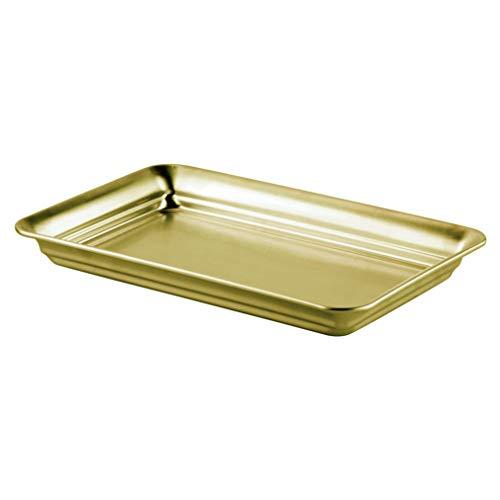 iDesign 03128EU opbergruimte voor gastendoekjes voor badkamer, 24,64 x 16 x 2,54 cm, soft brass, staal