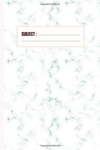 Arctic Blue Marble Notebook: Luxury Cornell Notes Lined Journal - Note Taking System for School and University | 6x9 inch - 120 Pages