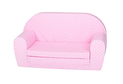 Knorrtoys 68447 Kindersofa-Pink White dots