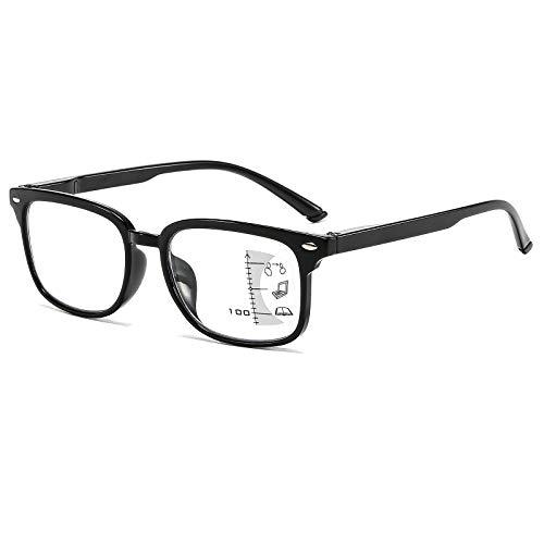 Suertree Multifokale bifokale Lesebrille Antiblaulicht Brille unisex für den täglischen Gebrauch Lesehilfe Multi Fokus Sehhilfe 1PC +2.50 MLD1701