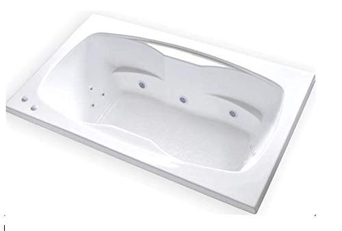 Carver Tubs - AR7242 - Heated Whirlpool 12 Jet - 72'L x 42'W x 20.5'H - Drop In White Acrylic...