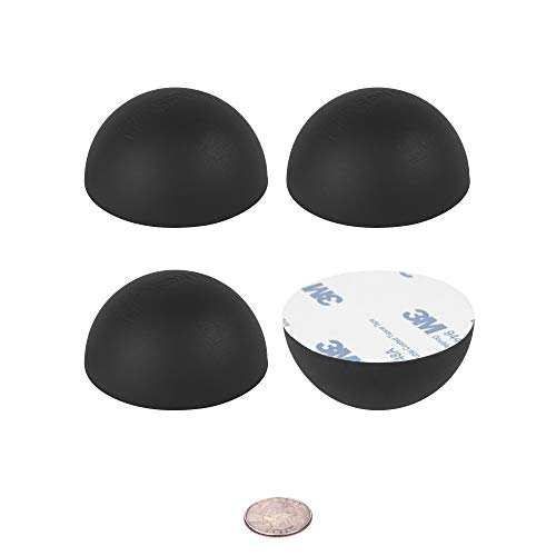 "2.5"" Platinum Silicone Hemisphere Bumper, Non - Skid Isolation Feet with Adhesive - 20 Duro - 4 Pack"
