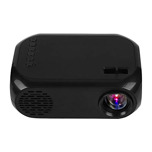 Bewinner Mini Video Projector, Portable HD 1080P LED Projector 320240 Resolution Support TF SD Card U Disk USB HDMI LCD Home Cinema Theater Projector for Home Entertainment, Party Games(US Plug)