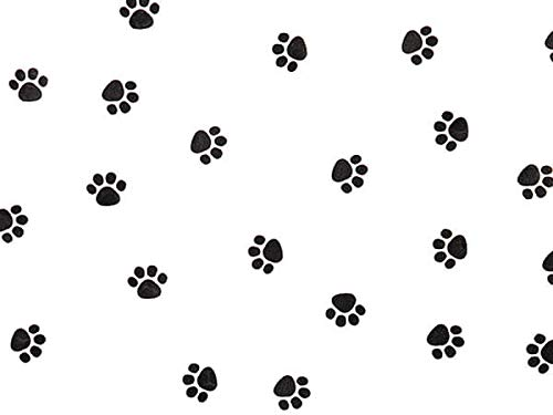 """All Occasion Print Cello Rolls - 40""""x100' Paw Print Cello Roll 1.0 mil (2 Rolls) - WRAPS-CR40PAW"""
