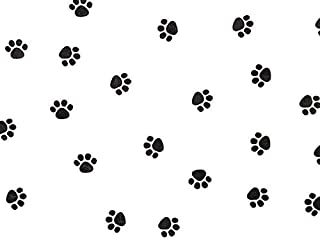 A1BakerySupplies® 25 Pack Paw Print Design Printed Cellophane Bags 4 in X 2 in X 9 in