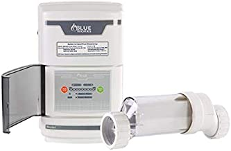 BLUE WORKS Salt Chlorine Generator Chlorinator BLSW20 with Flow Switch and Salt Cell for Above-Ground Pool (Clear)