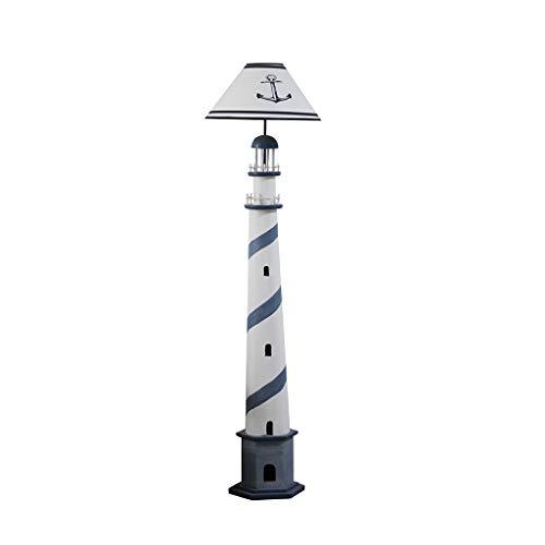 Mittelmeer-blauer Ozean Leuchtturm Stehlampe Wohnzimmer Schlafzimmer kreative Lampe einfache Studie Speicher CD-Regal R/03/13