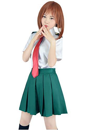 C-ZOFEK Boku no Hero Academia Verão Escola Uniforme com Gravata para Mulheres, Female Set, 3X-Large