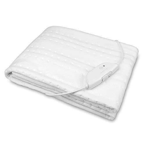 Medisana HU 674 Wärmeunterbett, 150 x 80 cm, Abschaltautomatik, Überhitzungsschutz, 4 Temperaturstufen, waschbar, Matratzenheizung für alle gängigen Matratzen geeignet