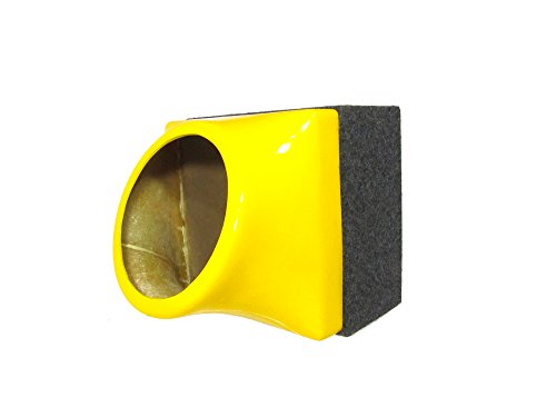 """FibroPRO Single 15"""" Sealed Subwoofer Speaker Box Enclosure With Fiberglass Face Plate (Yellow)"""