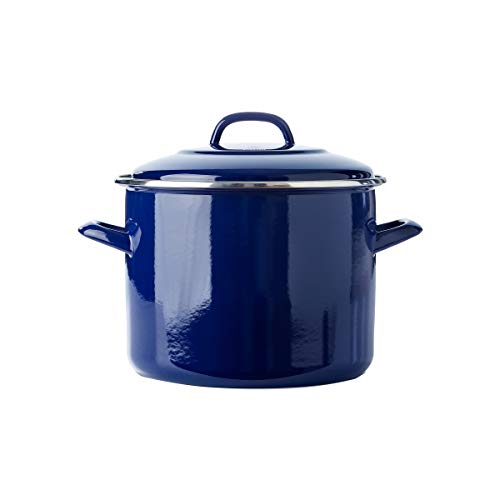 BK Carbon Steel Stockpot with Lid 9 QT Blue