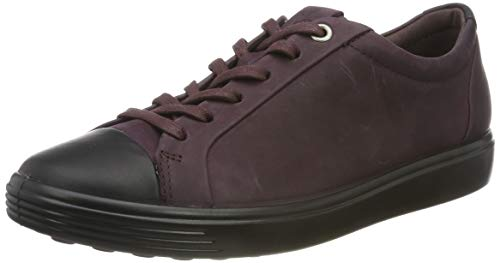 ECCO Damen Soft 7 W-440443 Sneaker, Violett (Black/Fig 51532) , 40 EU
