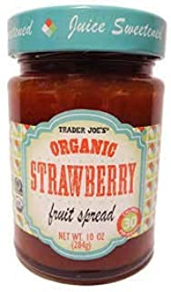 Trader Joes Organic Strawberry Fruit Spread 10 oz (Case of 3)
