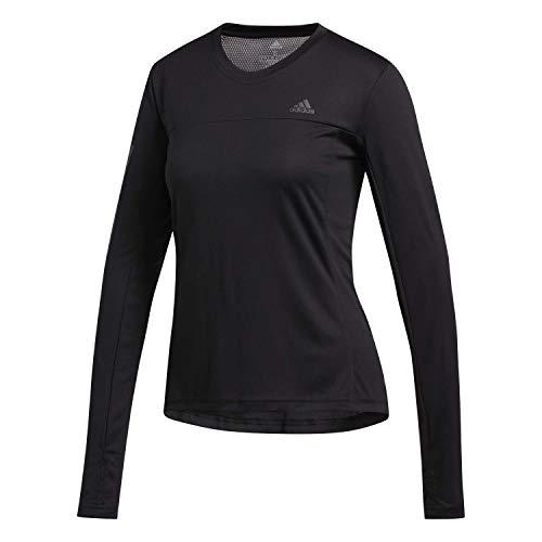 adidas Womens Own The Run Shirt, Black, L