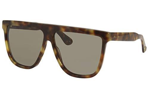 Gucci Gafas de sol GG0582S 003 Gafas de sol Hombre color Marrón Habana tamaño de lente 61 mm