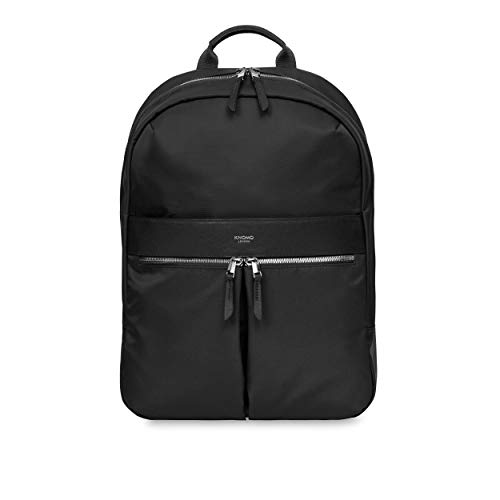 Knomo Mayfair Black with Silver zips Beauchamp New Backpack 14'