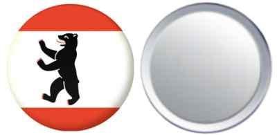 MadAboutFlags Miroir insigne de bouton Allemagne Berlin drapeau - 58mm