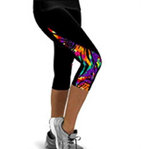 SHOBDW Pantalones Mujer Moda Patchwork Colorido Cintura Alta