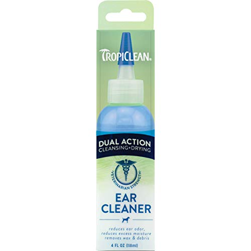 TropiClean Dual Action Ear Cleaner for Pets 4oz  Made in USA