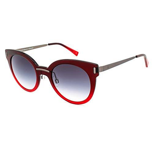 Humphrey's Damen 588116-50-2035 Sonnenbrille, Rojo-Gris Oscuro/Azul Degradado, 45/17/140