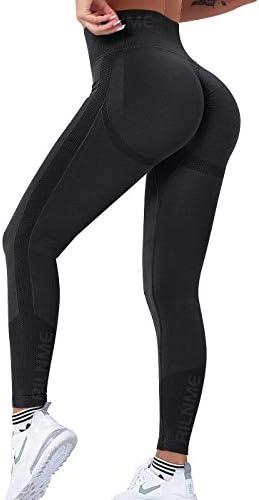 RILNME Smile Contour Seamless Leggings for Women High Waist Butt Lift Workout Yoga Pants Scrunch product image