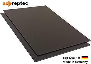 Placa de plástico ABS 3mm Negro 300x200mm (30x20cm) Acrilonitrilo Butadieno Estireno - Hecho en Alemania - Película protectora de una cara - Top Calidad!