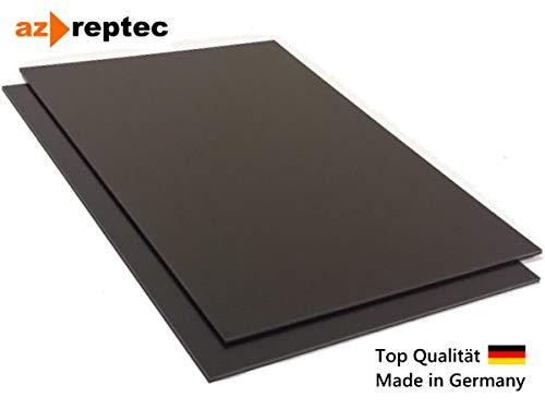 Kunststoffplatte ABS 2mm Schwarz 300x200mm (30x20cm) Acrylnitril-Butadien-Styrol - Made in Germany - Einseitige Schutzfolie - Top Qualität