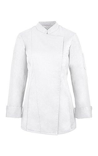 GREIFF Damen-Kochjacke mit verdeckten Druckknöpfen   Regular Fit   Cuisine Basic   Style 5405  Weiss  Gr: XXL