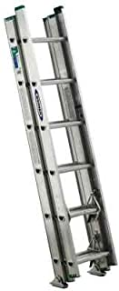 Werner 16 ft. Aluminum 3 Section Compact Extension Ladder with 225 lb. Load Capacity Type II Duty