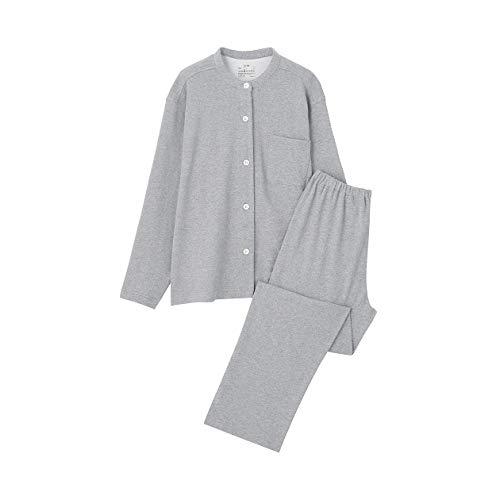 無印良品 脇に縫い目のない カットソースタンドカラーパジャマ 婦人S~M グレー 4550344156049
