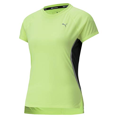 PUMA Women's Laser CAT Running TEE, Fizzy Yellow, M