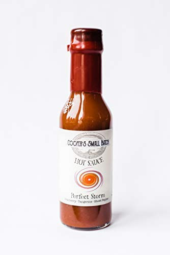 Cooper's Small Batch Perfect Storm is made with Ghost Pepper, Habanero, Cranberry, Tangerine and Pineapple, Gourmet Hot Sauce, Thoughtfully Hot Sauce, All-Natural, No Added Sugar, Low in Sodium