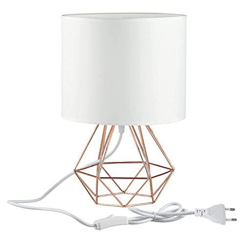 Modern Industrielle Metall Vintage Tischlampen Schreibtischlampen - YIKEGE Angus Körbchenstil Stil Nachttisch-Leuchte 15,35