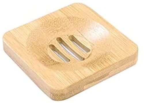 Jabonera, jabonera de bambú natural de madera, soporte para bandeja, soporte para almacenamiento, estante para jabón, placa, caja, contenedor, almacenamiento portátil para plato de jabón de baño