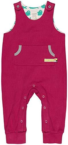 loud + proud Baby-Unisex Uni Aus Bio Baumwolle, GOTS Zertifiziert Strampler, Rosa (Berry Ber), 80 (Herstellergröße: 74/80)