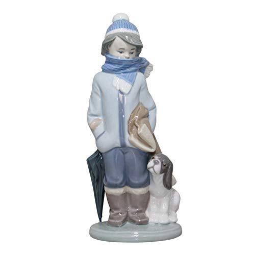 LLADRO LLADRO 01005220 5220 WINTER BOY WITH DOG INVIERNO INFANTIL