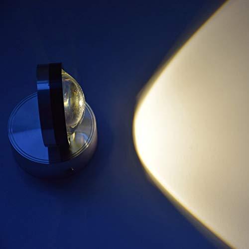 GYYlucky Wandlamp voor binnen, creatief, LED, unieke kop, kristal, foto, spotlight, porch, bed, background wandlamp, 3 W