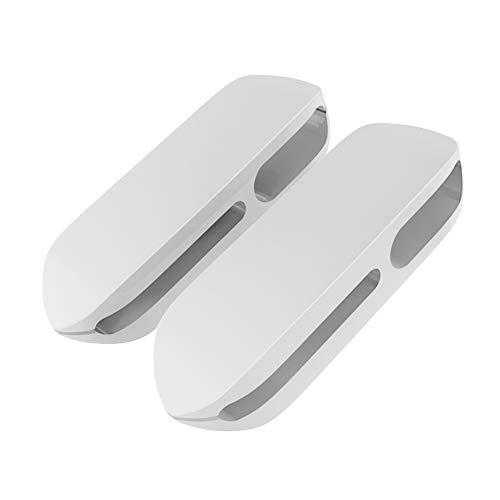ケーブルホルダー ケーブルクリップ デスク コンピュータデスク USBデータケーブル マウスライン キーボードライン 充電ケーブル ヘッドフォンケーブルの整理に適し 高品質3M両面テープ (2個) (白)