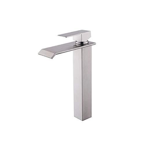 Lardecor - Grifo de Lavabo de Acero inoxidable - Monomando para Agua Fría y Caliente - HAVASU SILVER + (Mod. 4102)