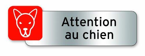 Symbol PSC12 Plaque polycarbonate adhésive 160 x 50 mm Attention chien