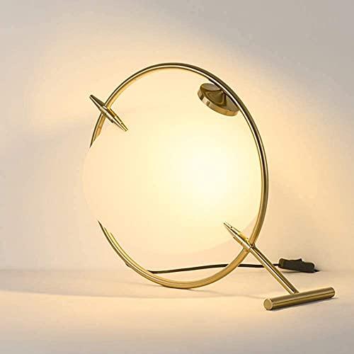 FHUA Lámpara Escritorio Moderno Minimalista Creativo Moda lámpara de Mesa Dormitorio Sala de Estar lámpara de Mesa iluminación Decorativa 40 * 40 cm