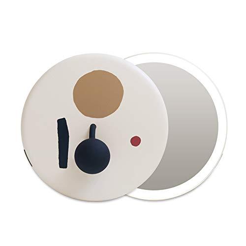 Mini Miroir de Maquillage LED Miroir de Maquillage Portable Prend en Charge la Gradation en continu de Charge USB et Porte Un Miroir de beauté avec Vous