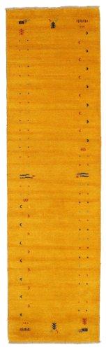 RugVista, Gabbeh Loom Frame, Fait Main, Tapis, Gabbeh, Longue Pile, 80 x 300 cm, Coureur, Care & Fair, Laine, Couloir, Chambre, Cuisine, Salon, Vin Rouge