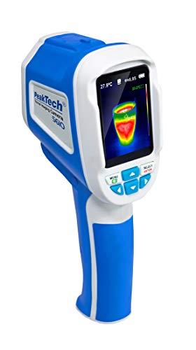 PeakTech 5610 – 220 x 160 pixels IR-warmtebeeldcamera met fotofunctie, USB en SD-geheugenkaart, 6 cm kleur-TFT-display, -20 tot 300 °C temperatuurbereik, 5 kleurenpaletten - spectral, ijzer, zwart/wit