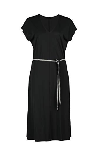 Expresso Dalia Damen schwarzes Midi-Kleid ärmellos mit w